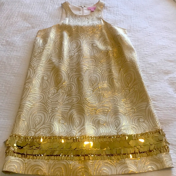Gold Lilly Pulitzer Dress